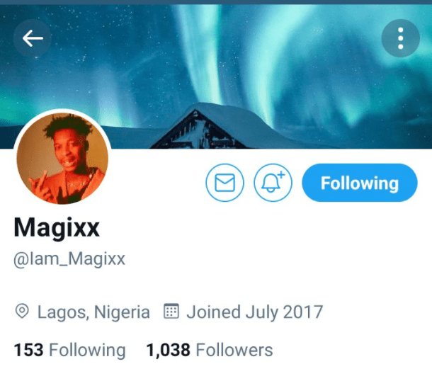 Less Than 24 Hours After He Was Unveiled By Don Jazzy, Magixx's IG & Twitter Followers Shoots Up To Over 300%