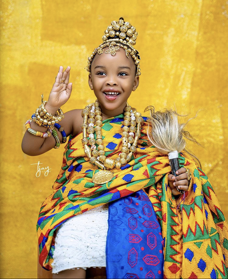 Kwaw Kese's Daughter Glows In Traditional Kente to Mark Birthday