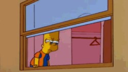 Image result for bart looking out window