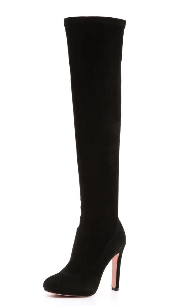 What Boot High Tall Heel Wear Black