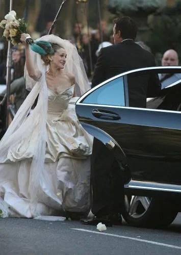Carrie Bradshaws Vivienne Westwood Wedding Dress Sells