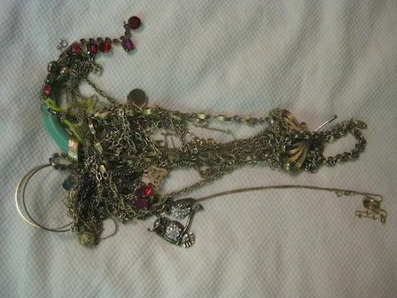 Image result for Tangled mess of accessories
