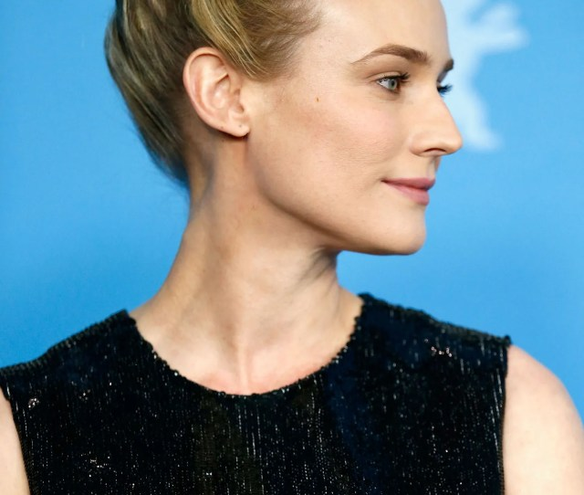 Beauty   Diane Kruger Princess Updo Rolled Hairstyle Side Main Jpg