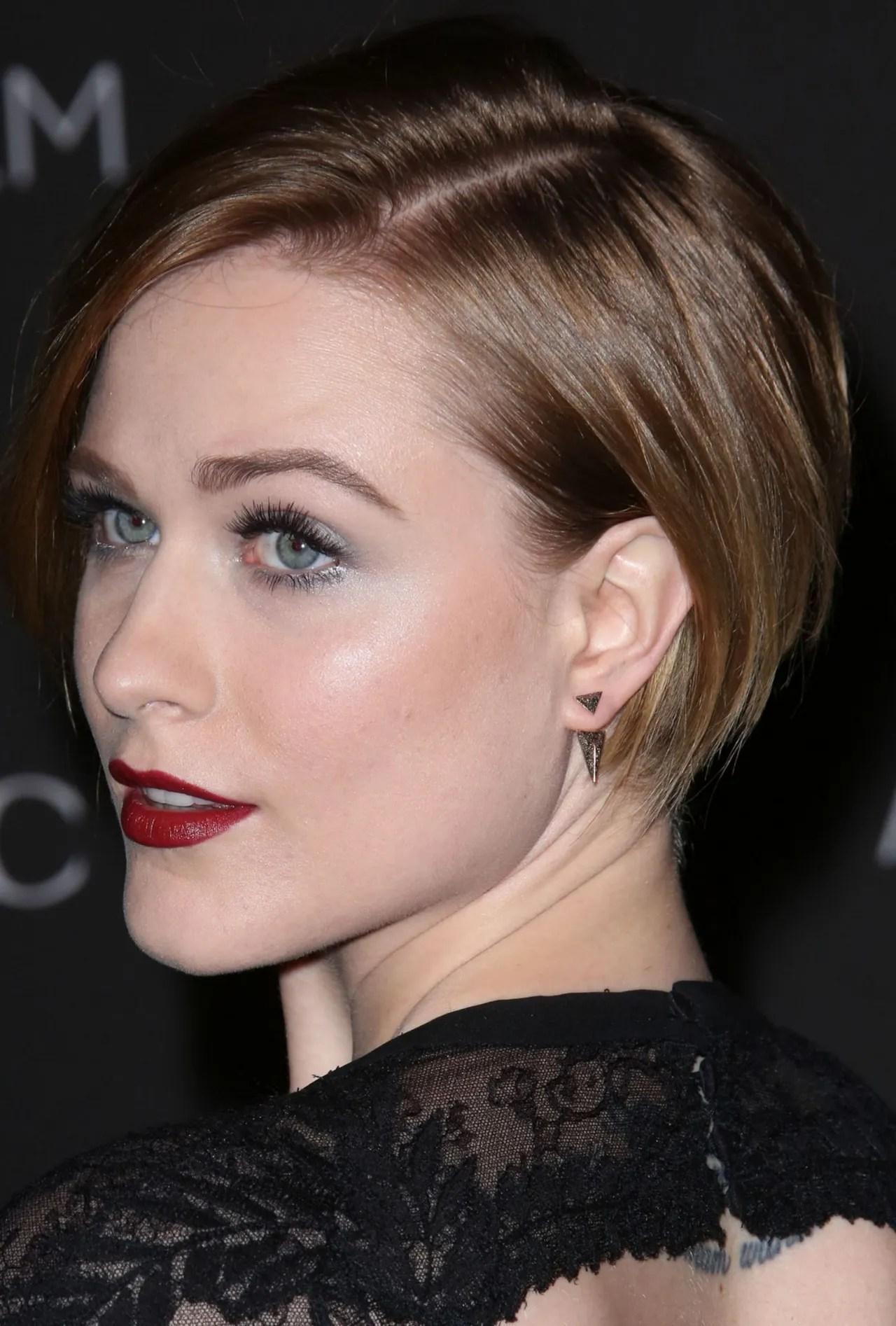 Celebrity Haircut Inspiration Evan Rachel Woods Short