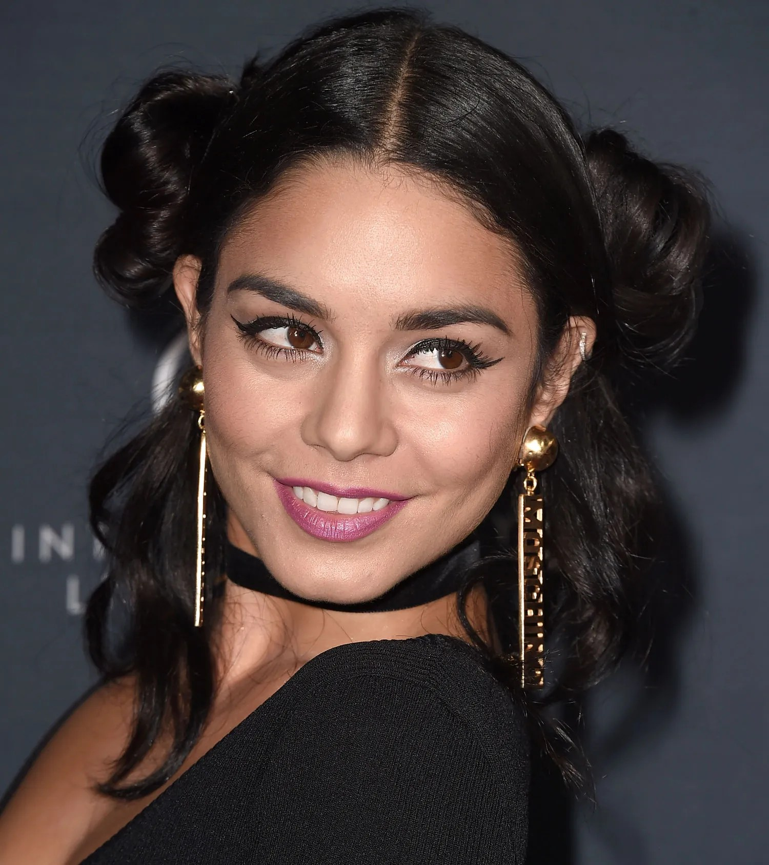 Vanessa Hudgens Wears A Princess Leia Hairstyle Ahead Of