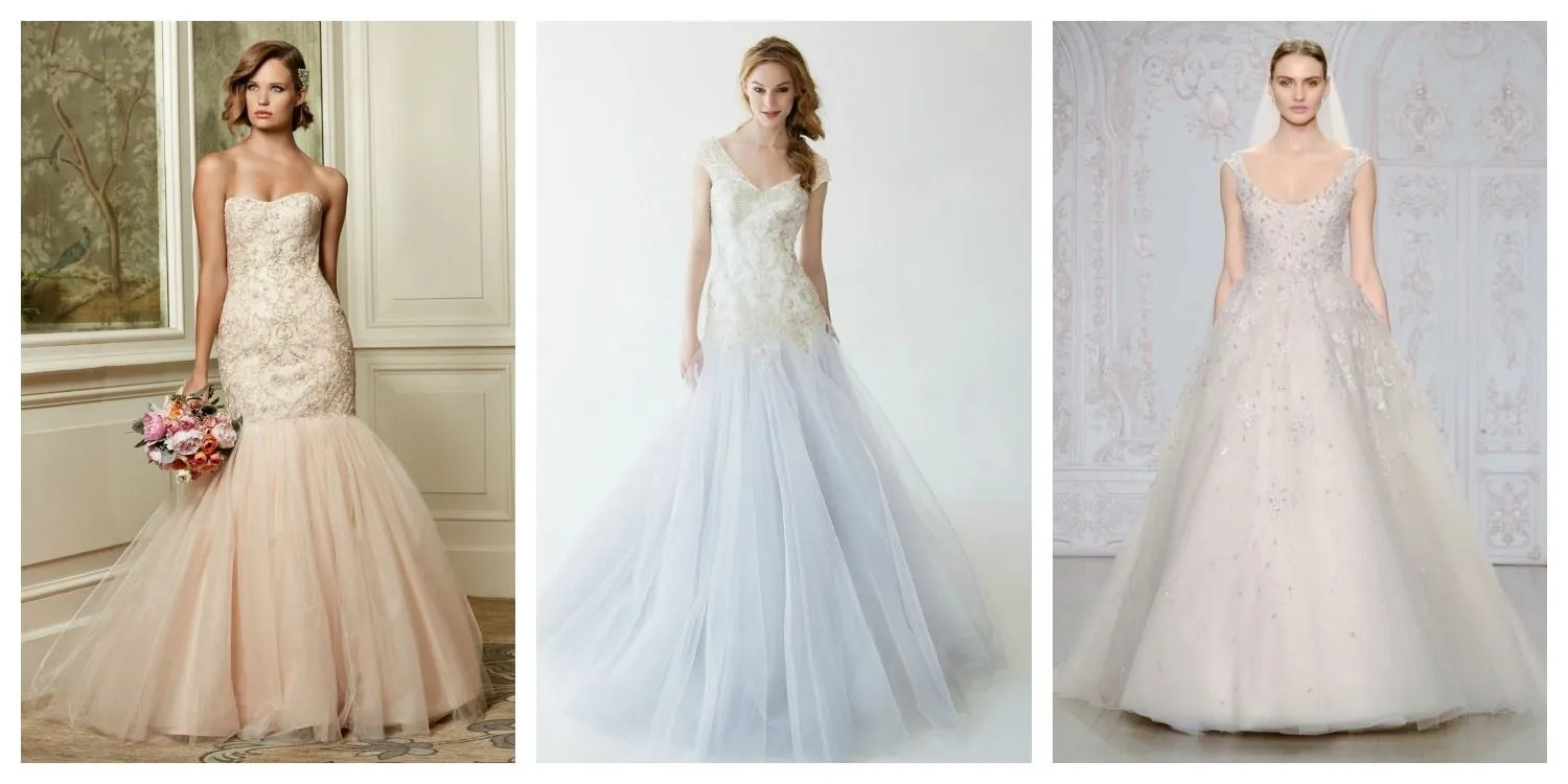 Nonwhite Wedding Dresses: Pink, Red, Gold, Blue, Green