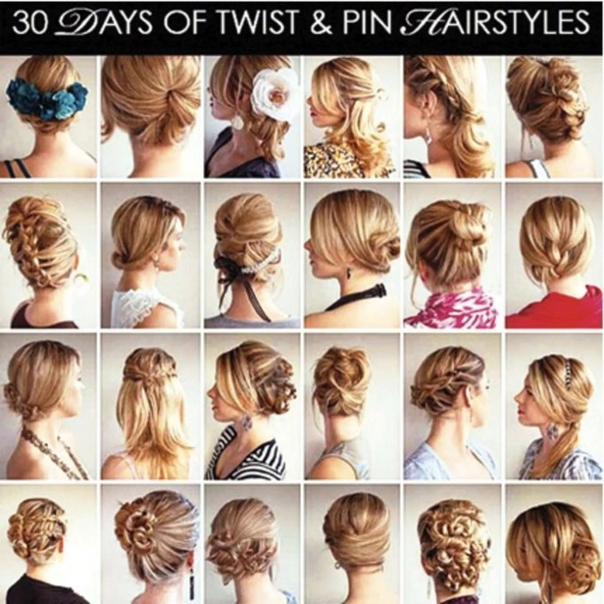 30 days of twist and pin hairstyles | glamour