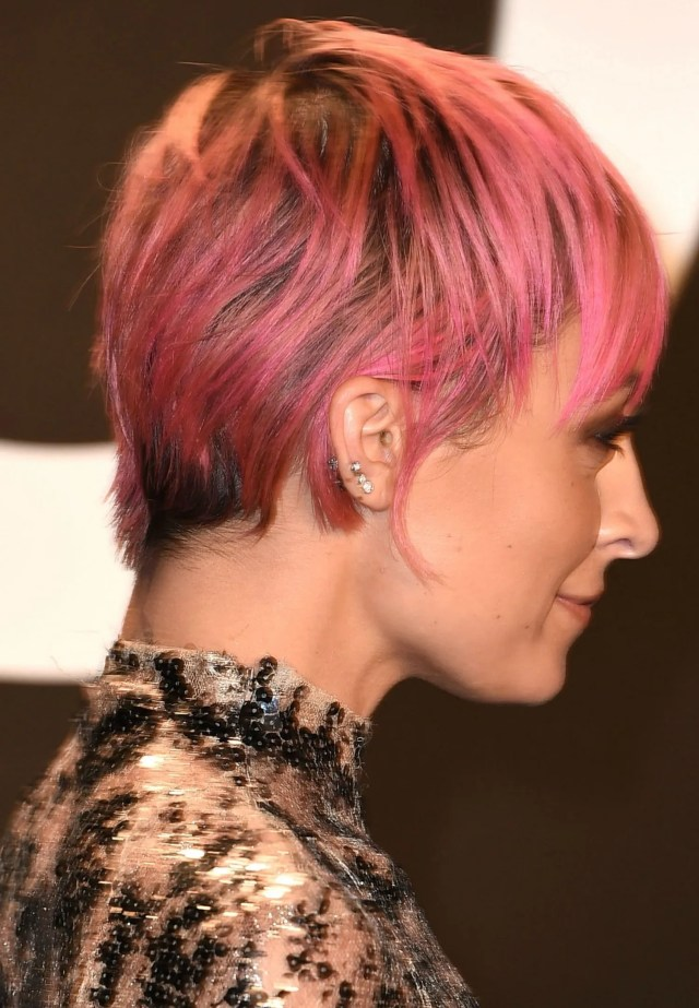nicole richie's new pixie haircut at the tom ford show?fall
