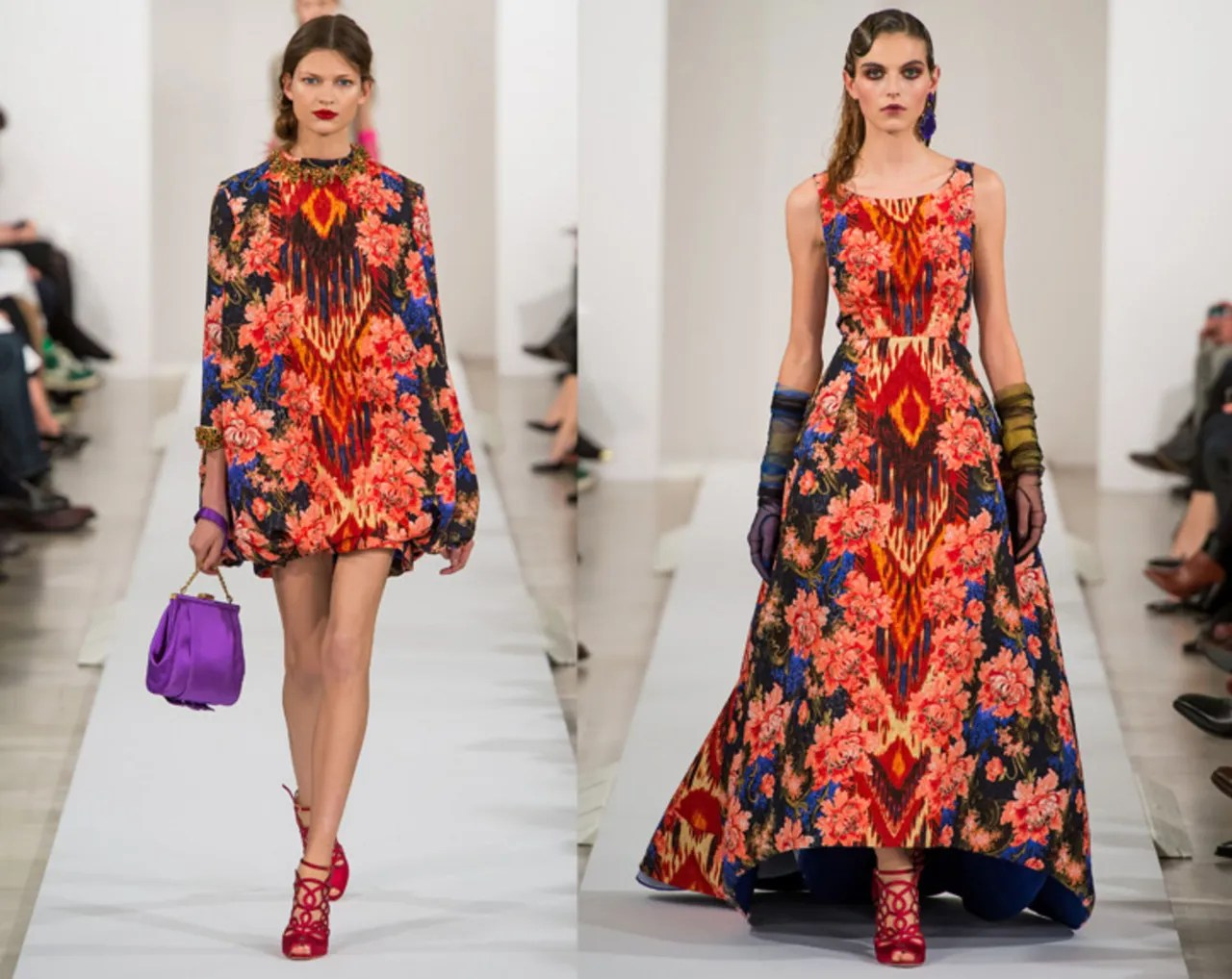 An Ikat And Floral Nail Art How To Inspired By Oscar De