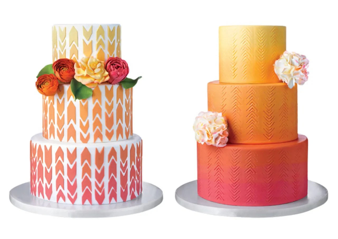 Splurge vs  Save  Wedding Cake Cost Cutting Tips From Top Bakers     splurge save cakes geometric 630