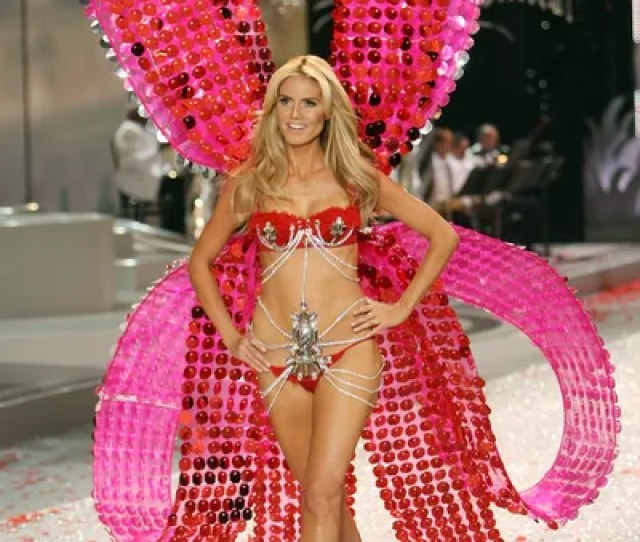 Victorias Secret Runways Shows Have Never Been About Subtlety But Wrapping Heidi Klum Up Like A