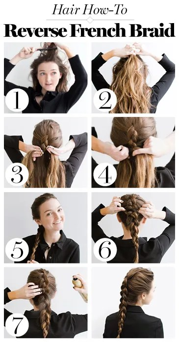 Reverse French Braid Hair How To Tutorial Tips From