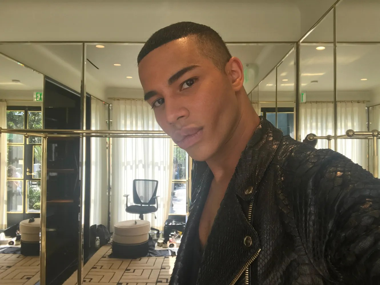 The designer disclosed his past condition in an. Balmain's Olivier Rousteing Talks Dressing First Ladies ...