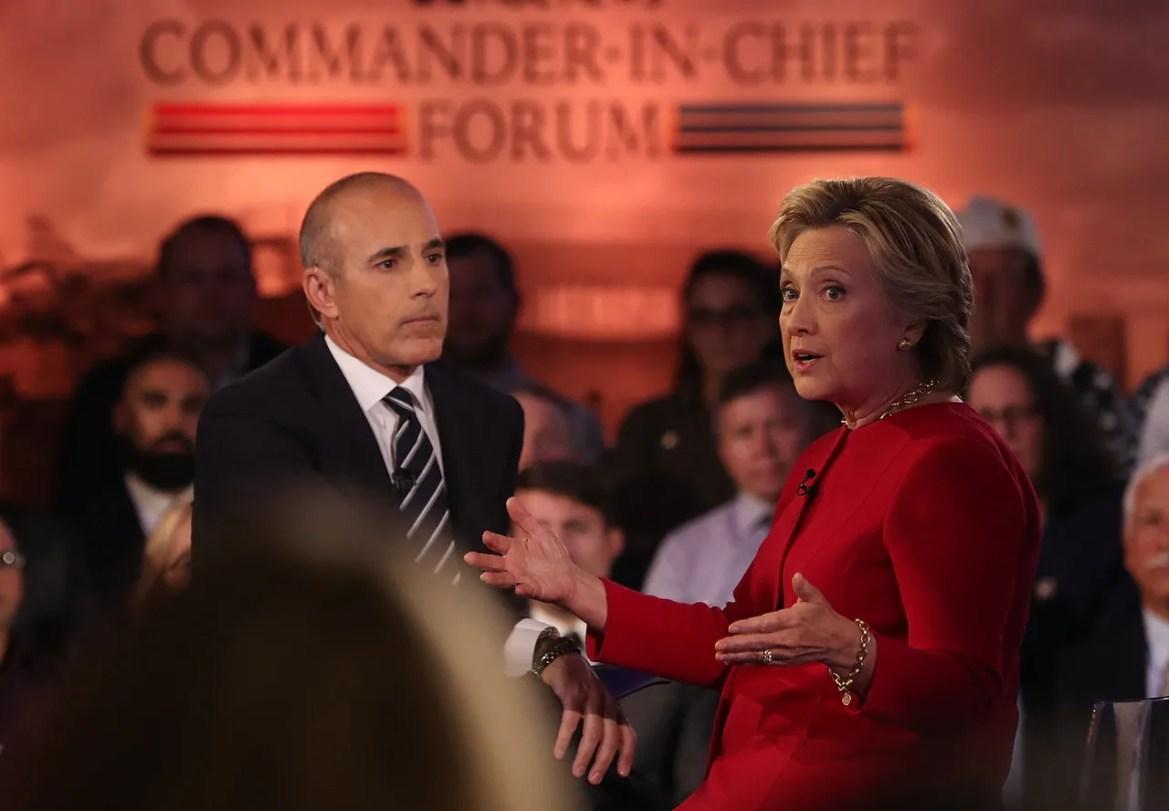 Matt Lauer Hillary Clinton