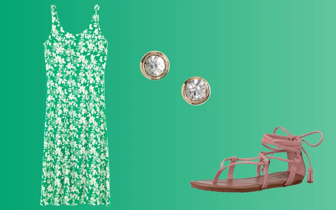 A midi floral dress that can go from office (layered with long-sleeve blouses or jackets) to weddings (with sandals or heels) is a summer no-brainer.