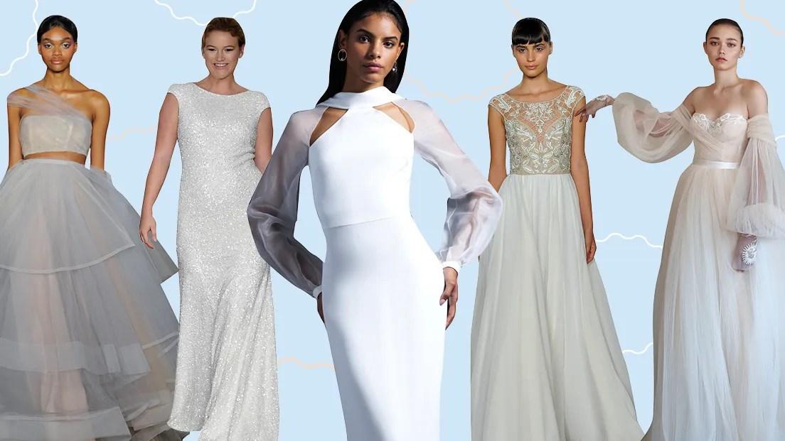 Wedding Dress Trends 2019: Pastels, Mock-Necks, And