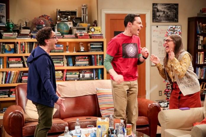 Leonard Sheldon and Amy celebrate their Nobel