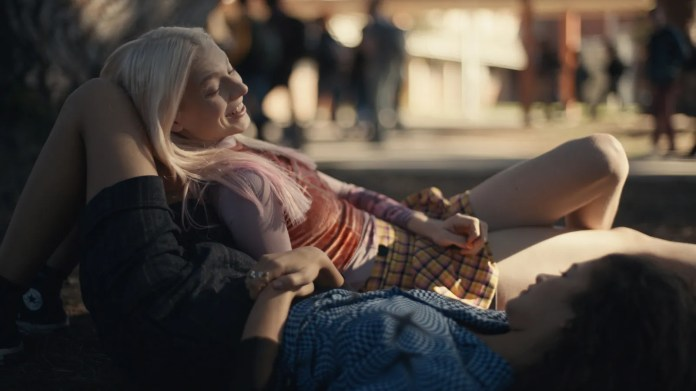 HUNTER SCHAFER and Zendaya on HBO's Euphoria.
