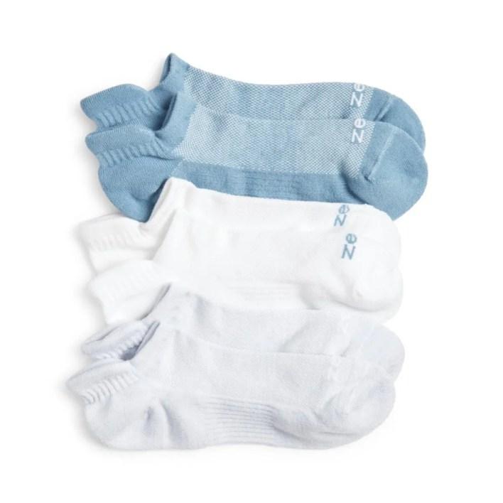 Zella 3-Pack Tab Back Ankle Socks