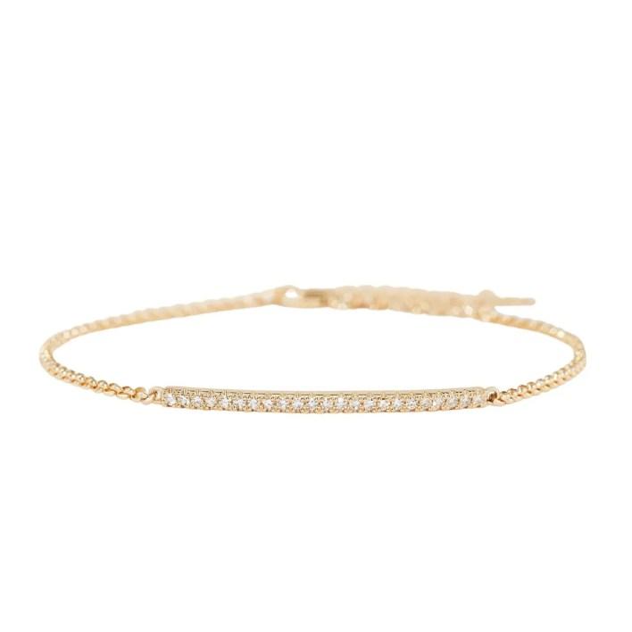 Mejuri Pavé Diamond Bar Bracelet
