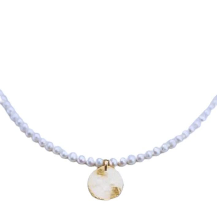 Ten Wilde Medallion Pearl Necklace