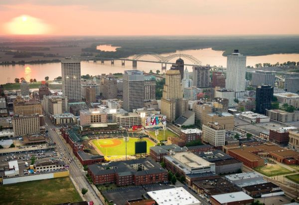 View of downtown Memphis... - St. Jude Children's Research ...