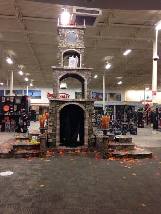 clock tower display empty spirit halloween office photo glassdoor