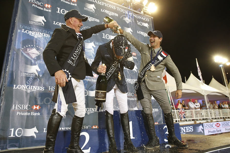 Scott Brash Jhon Whitaker Emanuele Gaudiano Longines Global Champions Tour Monaco Grand Prix