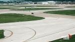 Plane narrowly misses van crossing runway for barbecue