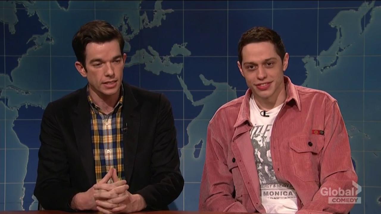 'SNL' star Pete Davidson jokes about his public threat to harm himself