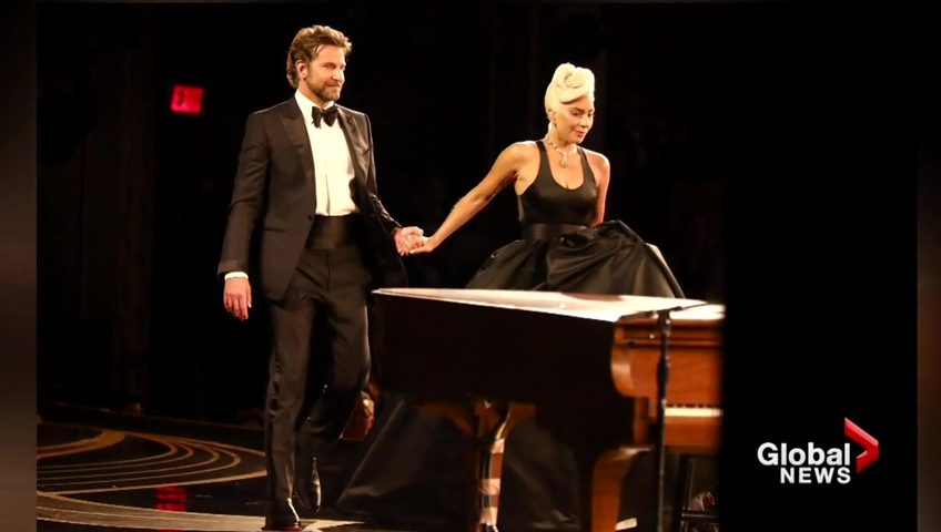 Click to play video: 'This is what Bradley Cooper told Lady Gaga before their Oscars performance'