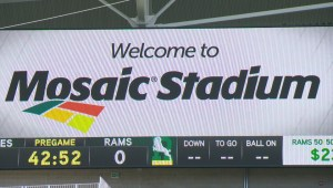 First game played at new Mosaic Stadium in test event