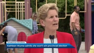 Kathleen Wynne admits the Liberals won't win the Ontario election
