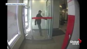 Calgary police release footage of suspects in Brentwood bank robbery