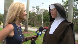 Nun who clears Hurricane Irma debris with chainsaw becomes internet sensation