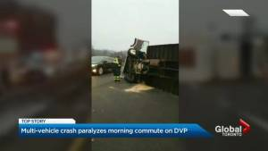 DVP 3-vehicle collision anything but a quick clean-up for Toronto crews