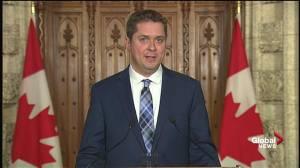 Andrew Scheer criticizes Trudeau over handling of Aga Khan trip (01:21)