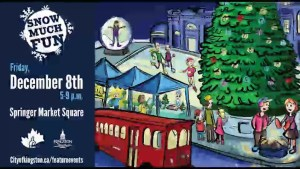 Snow Much Fun is coming to Springer Market Square on Friday December 8th.