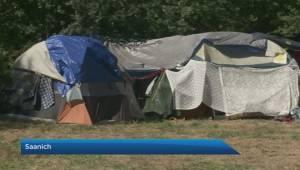 Poverty advocates protest move to shutdown Victoria area homeless camp