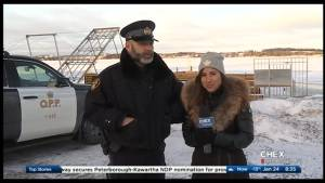 Ice safety tips on Chemong Lake with Constable Jason Folz from the O.P.P. (03:20)