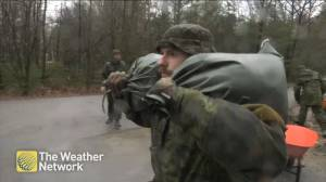 Army helps to combat flooding in Constance Bay, Ont.