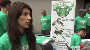 Honouring the Logan Boulet Effect on Green Shirt Day in B.C.