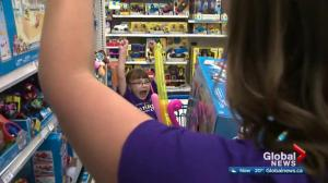 Five-year-old girl with liver disease gets shopping spree at Edmonton toy store