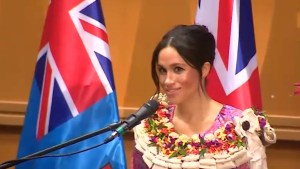 Meghan Markle speaks about importance of education during visit to University of the South Pacific in Fiji