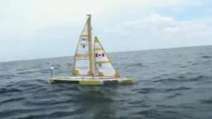 Autonomous Canadian sailboat crossing the Atlantic