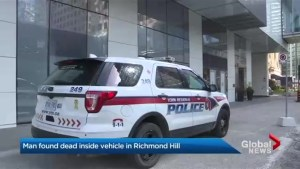 York Regional police at downtown condo building in on-going Richmond Hill homicide investigation