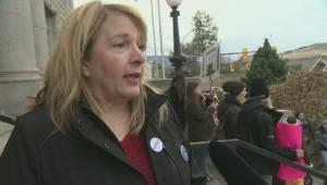 Rally in Vernon as Sagmoen returns to court