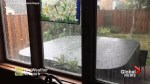 Video captures hail storm as it hammers Woodstock, Ont.