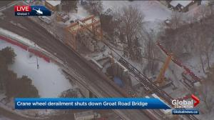 Groat Road Bridge closure leads to major traffic backups in Edmonton