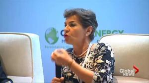 UN climate change chief praises China